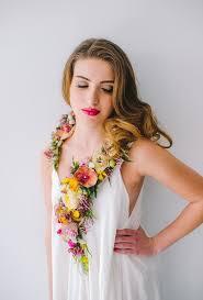 flower necklace wedding images Spring vibe 38 fresh flower wedding accessories weddingomania jpg