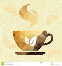 abstract cup of coffee on a geometric background royalty free