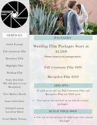 wedding videography prices wedding videography pricing and packages
