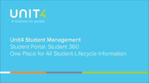 One Place Unit4 Student Management Student 360 One Place For All Student