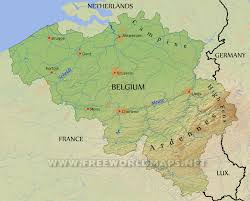Brussels On World Map by Belgium Physical Map