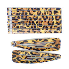 hair slides 12 pieces brown leopard print hair slides snap hair clip set for