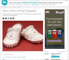 Home Trends Design Ltd Free Slipper Sewing Patterns And Ideas