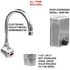 Ada Multistation 2 Users Hand Sink No Lead Electronic Faucet 72 Ada 2 Station 48