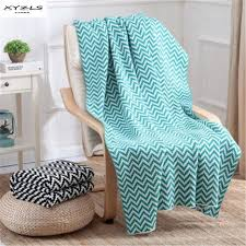 aliexpress com buy xyzls geometric ripple knitted throw blanket