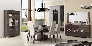 Modern Dining Room Tables Italian Dining Table In High Gloss Walnut By Esf W Options