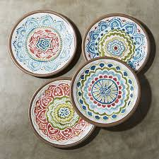 colorful melamine plates crate and barrel