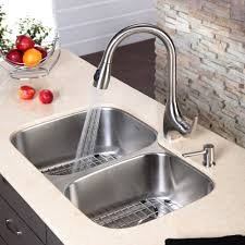 stainless steel kitchen sink combination kraususa com discontinued 32 inch undermount double bowl stainless steel kitchen sink with kitchen faucet and soap