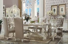 versailles dining room versailles collection 61145 acme dining table set