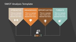 minimalist swot analysis template for powerpoint slidemodel