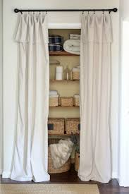 Used Closet Doors Closet Door Alternative Easy Drop Cloth Curtains Sincerely