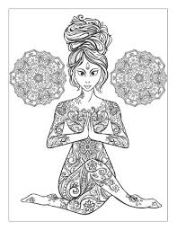 Yoga And Meditation Coloring Book For Adults With Yoga Poses And Books For Coloring