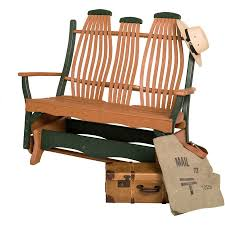 outdoor poly bentwood double glider
