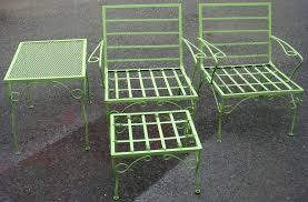 Vintage Outdoor Patio Furniture Decorate Vintage Metal Patio Chairs All Home Decorations