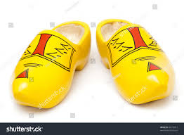 pair wooden shoes klompen traditional dutch stock photo 40179013