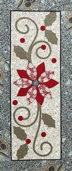 quilt inspiration free pattern day poinsettia table runner