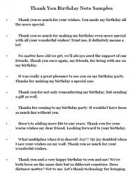 sles of birthday greetings thank you letter birthday 28 images birthday thank you notes