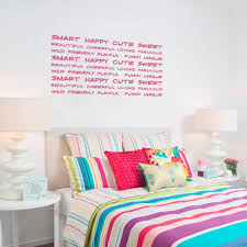 sweet adjectives wall decal