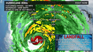 Map Of The Florida Keys 3dead Hurricane Irma Makes Landfall In The Florida Keys With 130
