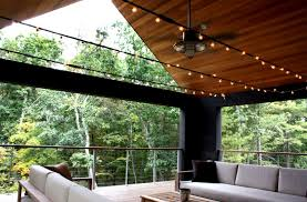 Outdoor Ceiling Fans With Light Rustic Ceiling Fan Light Create Cool Relaxed Mood On Porch