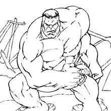 incredible hulk coloring pages hellokids
