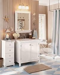 Beachy Bathroom Mirrors by Nautical Bathroom Ideas Double Wall Mirror With Wooden Frames Dark