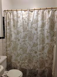 Yellow Paisley Shower Curtain by Vintage Bird Gold And Black Chevron Bathroom Trashcan And