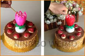 spinning birthday candle happy birthday flower lotus musical spinning lotus candle buy