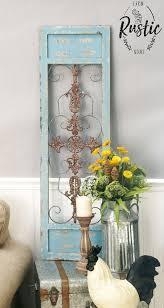 Rustic Distre Metal Wood Blue Wall Panel Distressed Antique Vintage Rustic