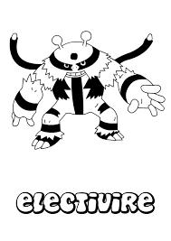 electivire coloring pages hellokids com