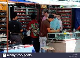 fake designer pirate pirated watches luxury goods on sale stall