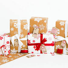 recycled christmas wrapping paper snowflakes brown christmas wrapping paper set on etsy 3 83