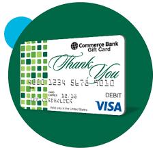 bank gift cards visa gift card commerce bank