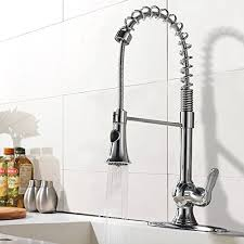 spiral kitchen faucet ufaucet modern high arch stainless steel plumbing spiral single