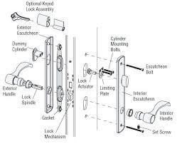 sliding glass door lock repair 05 e2176 andersen sliding patio door latch lever andersen patio