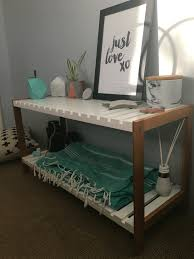 Kmart Furniture Kitchen Table Kimmy Stand From Kmart Marble Copper U0026 Mint Accents On White Base
