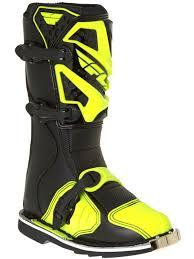 motocross boot repair fly racing black hi viz 2016 maverick kids mx boot fly racing