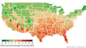 us climate map study maps out dramatic costs of unmitigated climate change in the