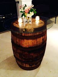 cocktail table centerpieces cocktail table decor rustic wine barrels event services barrel