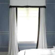 White Curtains With Blue Trim Decorating White Curtains With Navy Trim Howtolarawith Me