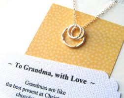 grandmother s necklace necklace great grandmother gift 3 or 4 generations