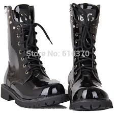 s outdoor boots in size 12 fashion s high top shoes mid calf half boots rivets black