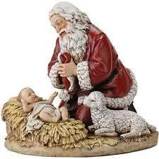 santa and baby jesus kneeling santa ebay