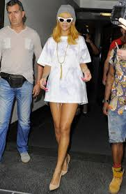 rihanna shows off her toned legs in belgium photo
