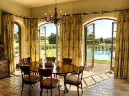 Sewing Cafe Curtains Sew Cafe Curtains Mediterranean Dining Room By Gabriel Builders