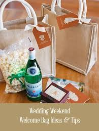 welcome baskets for wedding guests wedding welcome bag ideas