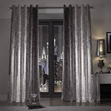 Grey Ombre Curtains Minogue Natala Slate Lined Eyelet Curtains 66 X 54 By Ccc