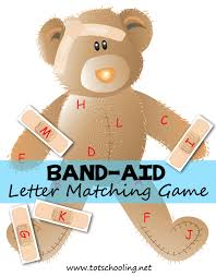 printable alphabet recognition games band aid bear alphabet matching totschooling toddler preschool
