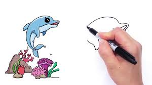 how to draw a cartoon dolphin cute and easy video dailymotion