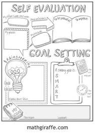 doodle 4 blank sheet student goal setting sheet doodle note style